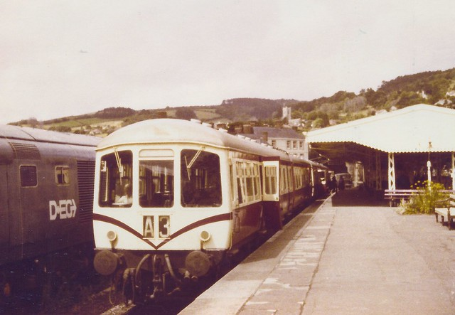 GB-WSR0002 DMU-train composed of 50413/56168 and 50414/56169 in Minehead