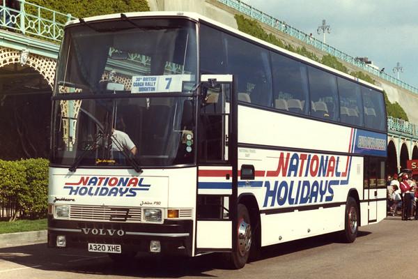 National Travel East Jonckheere Jubilee P90 A320 XHE Brighton Coach Rally April 1984