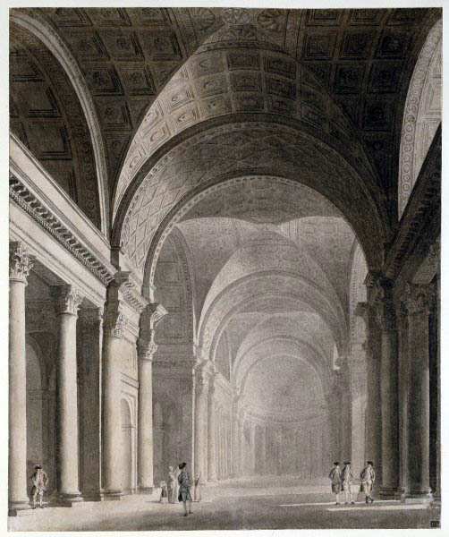 Sandby, Thomas (1723-1798) - 1775c. Design for a Monumental Hall: Interior (Royal Academy of Arts, London)