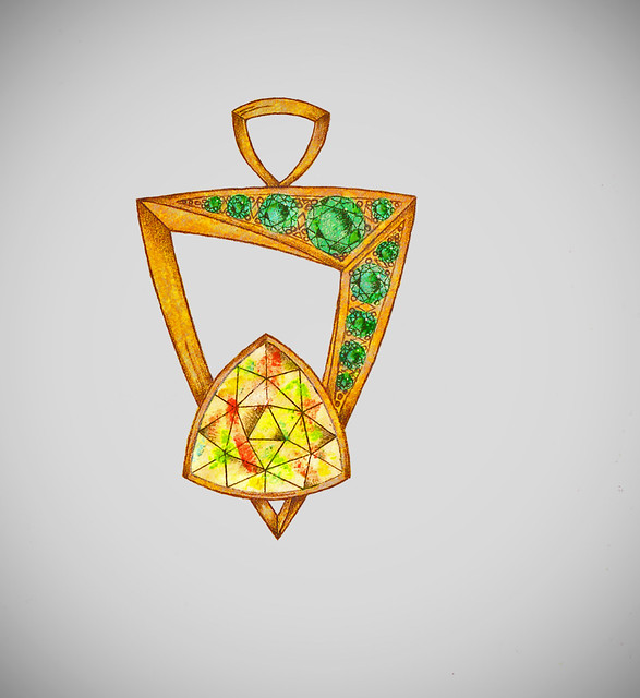 Rendering Proposal for Welo Opal Pendant Design / 1
