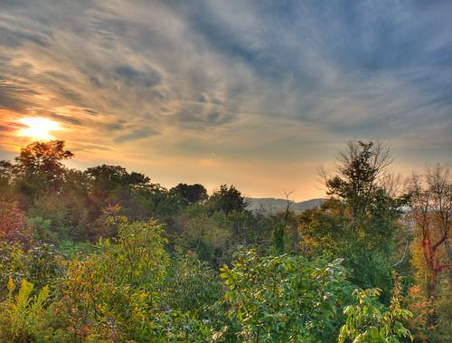 autumn trees sun clouds forest pennsylvania pointandshoot hdr adamstownship canonpowershotg11
