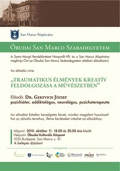 2010. szeptember 23. 11:40 - Dr. Gerevich József: Traumatikus élmények kreatív feldolgo zása a művészetben