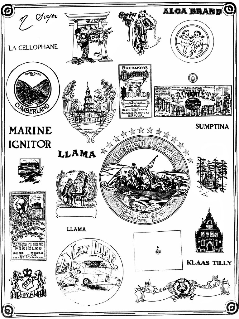 Llama - From The Trade Mark News. Published 1910-13. - Double-M - Flickr