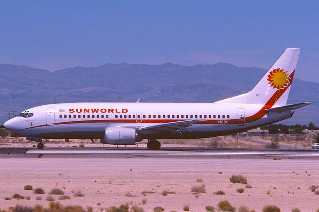 Sunworld International Airways Boeing 737-3Q8; N891L, April 1986