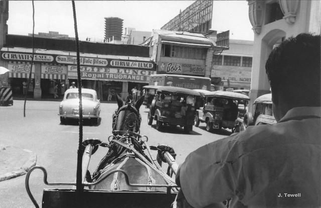 Line-up of Jeepneys, Manila, Dec. 7, 1957