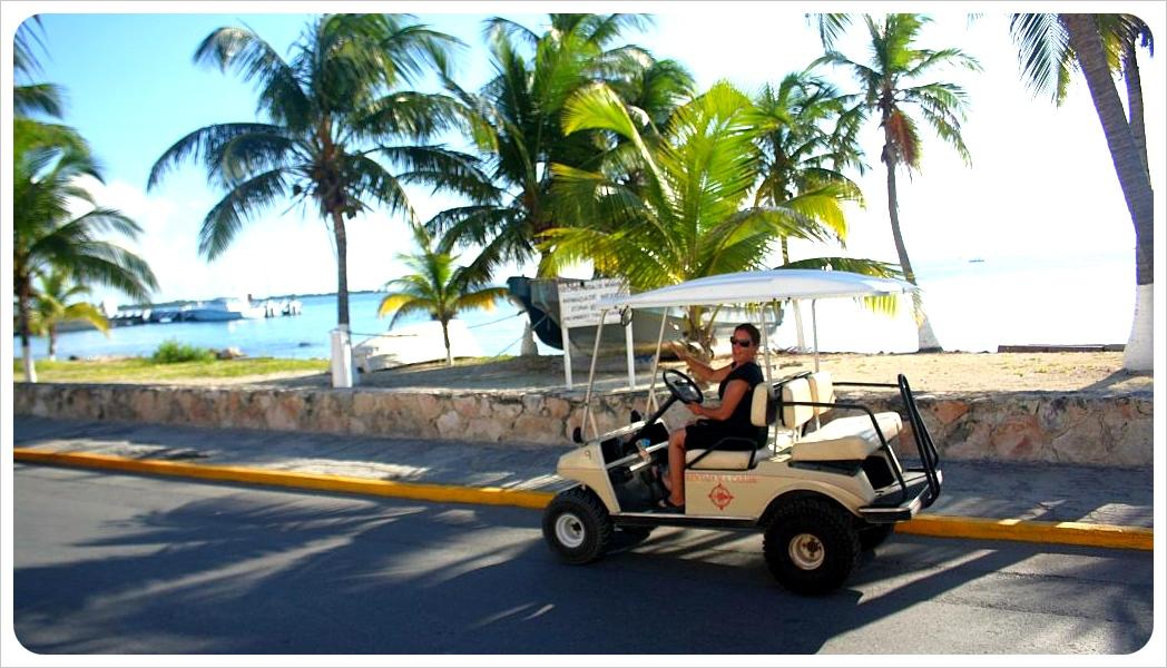 Driving a Golf Kart