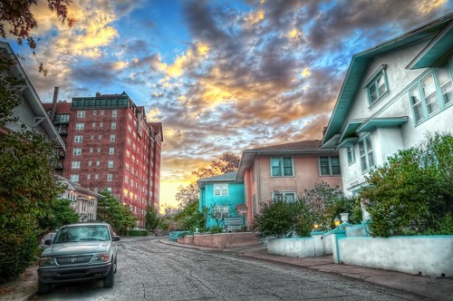 sunrise nikon kansas wichita streetscape hdr photomatix oaklandstreet d300s