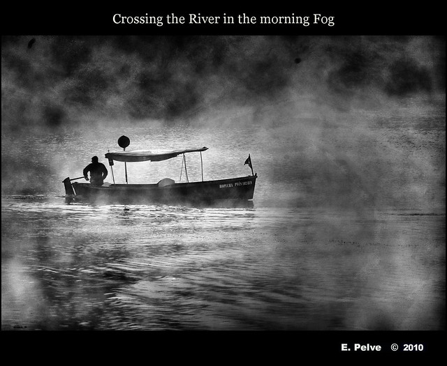 Crossing the River in the morning Fog