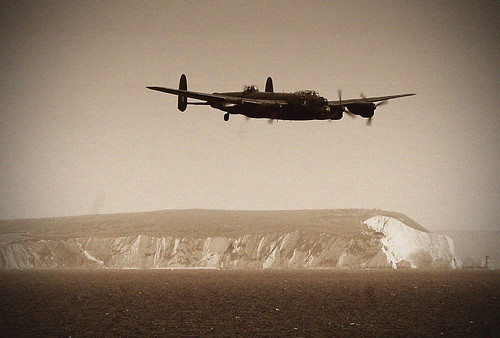 Lancaster over Isle of White
