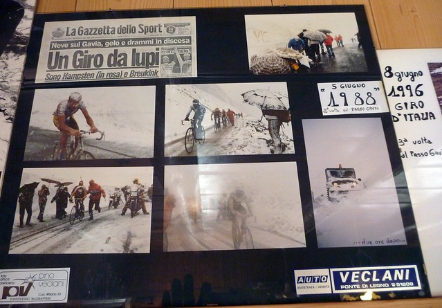 Photo in Restaurant at top of Gavia