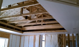 Partially completed tray ceiling   by mark h nichols