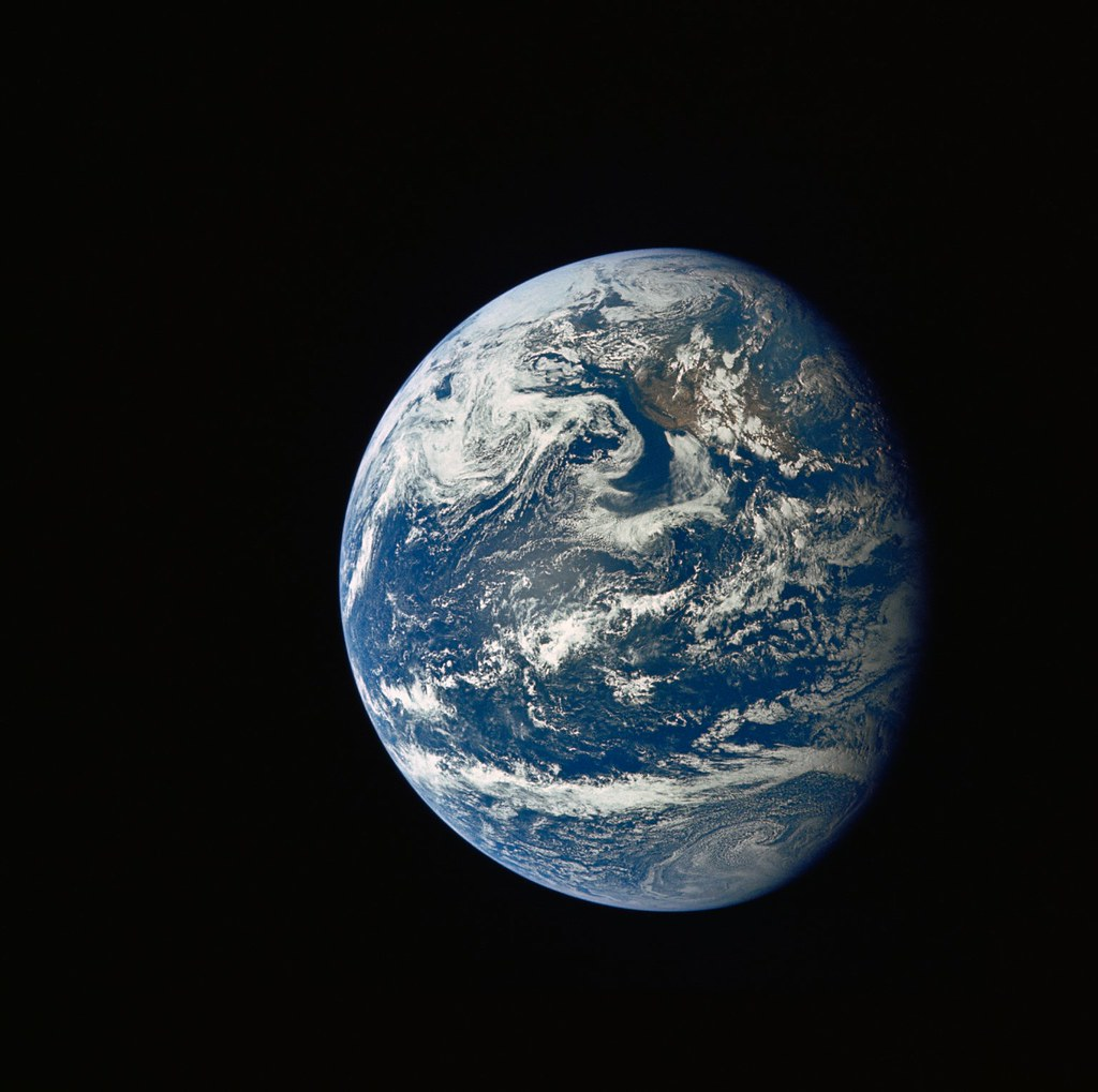 Apollo 11 Mission Image - Earth view over Central and Nort ...