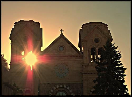 santa new morning 2 church st sunrise mexico francis cathedral fe santafemorning2