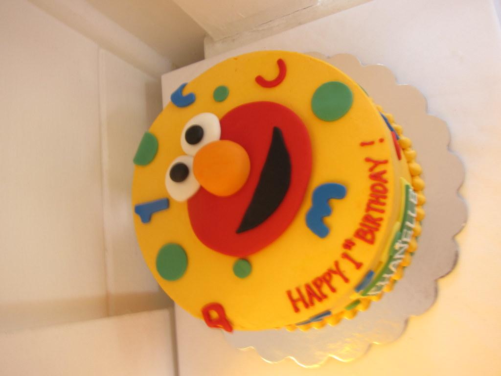 Cool Elmo Birthday Cake Polkadots Olga Flickr Funny Birthday Cards Online Necthendildamsfinfo
