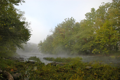statepark morning camping autumn trees mist green fall water leaves misty fog forest river landscape virginia woods nikon stream d70s dew va vr fosterfalls southwestvirginia newrivervalley 14200mm