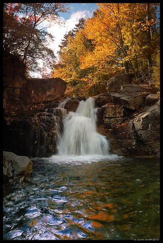 autumn fall waterfall newhampshire whitemountains nikond50 franconianotch wmnf cascadebrook leefilters rockyglenfalls nikon1735mmf28