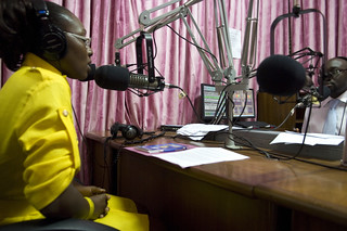 Morning radio show host at the Joy FM studio in Accra | by World Bank Photo Collection