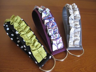 Ruffled Wristlet Keychains | by teaginny