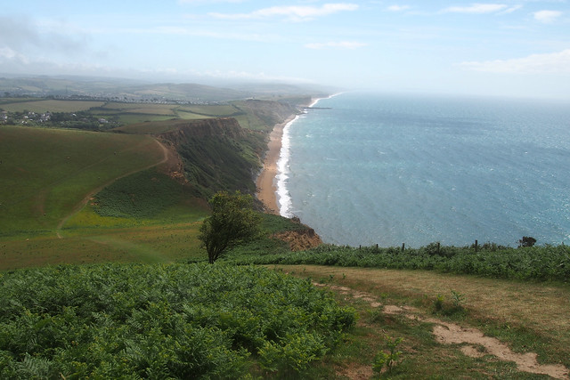View from Thorncombe Beach near Eype