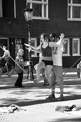 Utrecht Domplein evenwichtsoefeningen