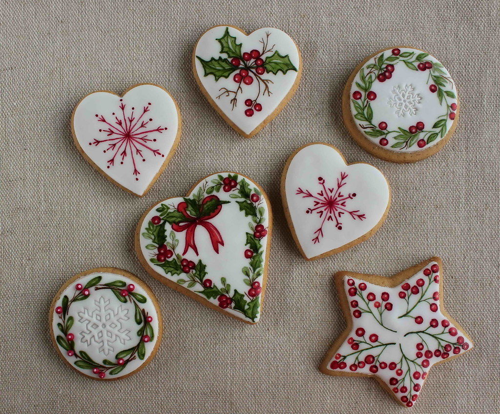 Christmas Cookies Painted Bubolinkata Blogspot Bg 2017 0 Flickr
