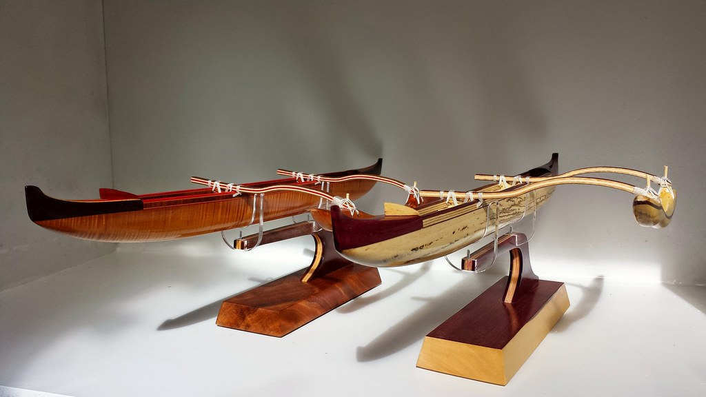 I love to give my Hawaiian outrigger canoe models a contem