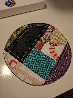 Learned to foundation piece with Michelle patterns' patchwork coasters pattern!