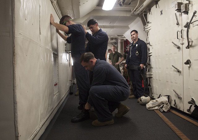 LE Marines conduct detainee training