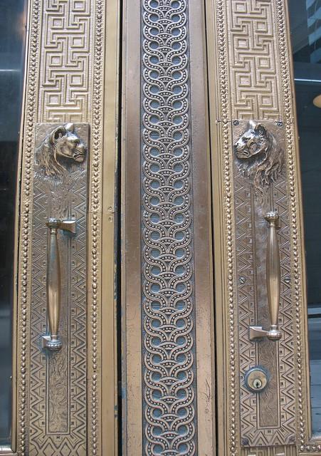 Door handles, the Marquette Building