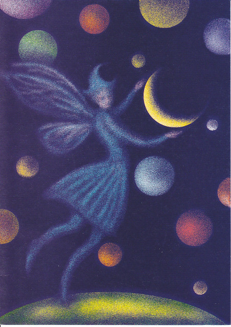 Moon Fairy Art Postcard