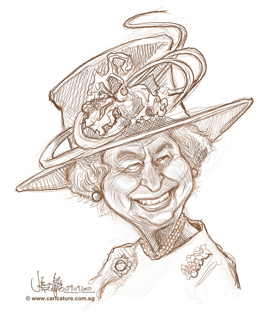 Digital sketch of queen elizabeth ii 2 by jitportraitworkshop com