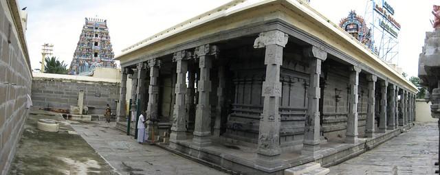 Inner Praharam and the front mandapam of the main shrine