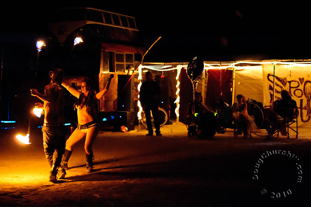 Fire Spinners • Burning Man 2010