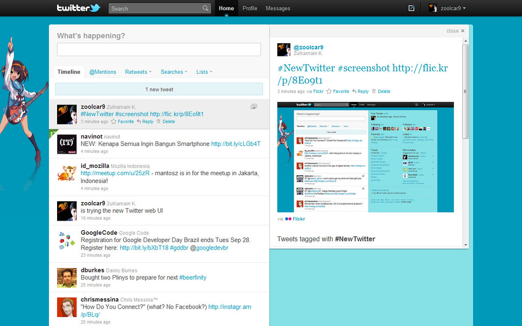 New Twitter UI - image preview | Zulkarnain K  | Flickr