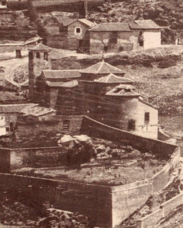 Iglesia de San Lucas y Cigarral de Doctrinos en 1857. Fotografía de Charles Clifford (detalle)