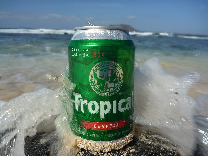 Tropical, the official beer of the Canary Islands