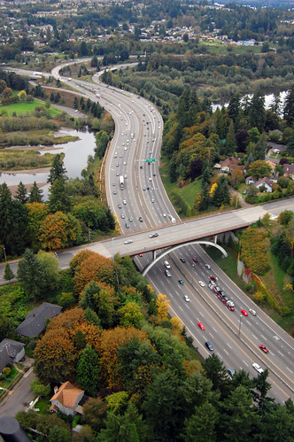 bridge autumn washington highway aerial olympia aerialphotography capitallake capitalway ~elm
