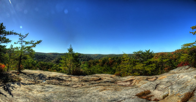 Overlook, Rockcastle Conglomerate, Twin Arches Loop trail, BSF, Scott Co, TN