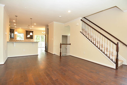 empty living room in new construction townhome | by RealtorMalcolm