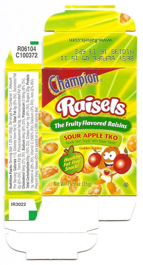 Champion Raisels Sour Apple Tko Box A Photo On Flickriver