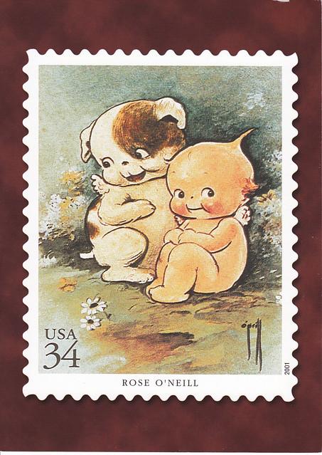 USPS American Illustrators Rose O'Neill Postcard