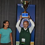 Grand Haven City Manager Pat McGinnis Celebrates with Community Excellence Award Cup