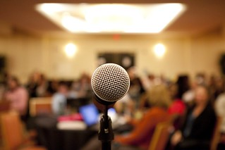 Microphone at Type A Mom Town Hall Meeting. | by kelbycarr