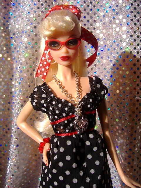 Hello Kitty 2 in black polka dots #2