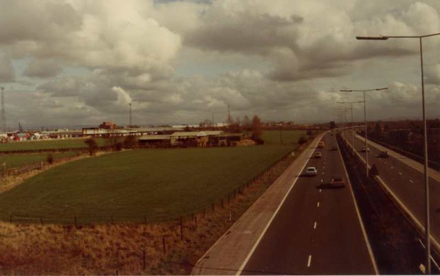 Croft Farm from the M63