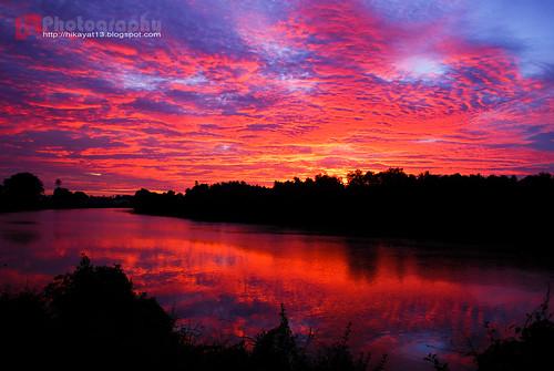 sunset sky panorama tourism beautiful clouds river landscape nikon view visit tourist malaysia stunning indah attraction kotabharu riverview langit kelantan d60 tuhan