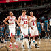 Noah, Korver, and Rose walk back to the bench