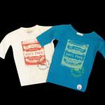 2010S/S DN-2002 soul food 7分袖T-shirts A,ミルキーホワイト B,ターコイズブルー ¥3,800(¥3,990)