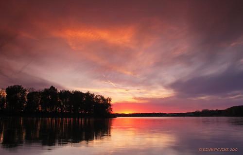 park sunset sky usa cloud sun lake color reflection tree nature night clouds landscape pond october outdoor michigan scenic nightsky westmichigan jenison bendarea canont1i