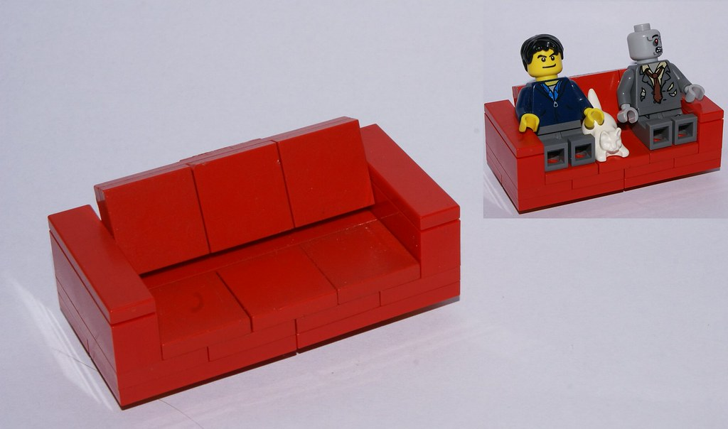 Enjoyable Couch Its Small Red Square And Seats 2 Minifigs And A P Squirreltailoven Fun Painted Chair Ideas Images Squirreltailovenorg